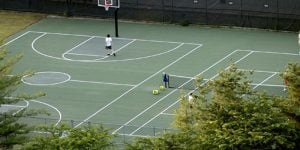 tennis & basketball court amenity at Park Place Towers in Hartford